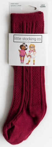 Little Stocking Co Ruby Knee High Socks