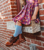Little Stocking Co Knee High Socks - Cornflower