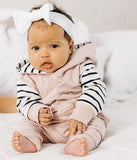Little Bipsy Blush Stripe Hoodie Basically Bows & Bowties