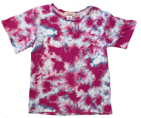 Tweenstyle by Stoopher Hot Pink Tie Dye Tee