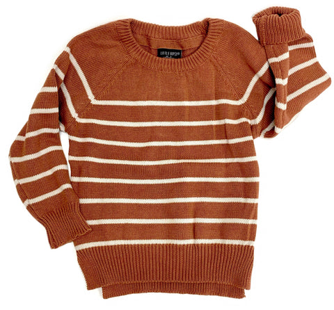 Little Bipsy Collection Rust Knit Sweater Basically Bows & Bowties