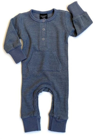 Little Bipsy Navy Thermal L/S Romper