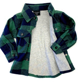 Little Bipsy Navy and Green Buffalo Plaid Flannel Basically Bows & Bowties