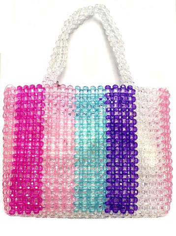 Bari Lynn  Multi Color Beaded Handbag