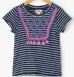 Hatley Solstice Stripe Back Bow Tee - Basically Bows & Bowties