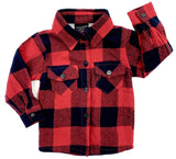 Little Bipsy Buffalo Plaid Flannel-Red & Navy