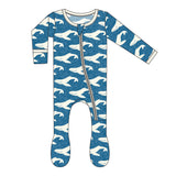 KicKee Pants Twilight Whale Footie with Zipper-PRESALE - Basically Bows & Bowties