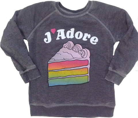 Junk Food Clothing Co J'Adore Sweatshirt - Basically Bows & Bowties