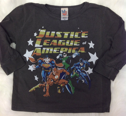 Junk Food Clothing Co Justice League Long Sleeve Tee