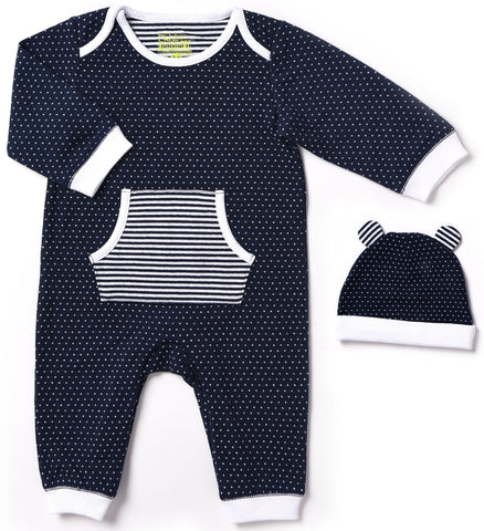 Kapital K Midnight Navy & White Coverall - Basically Bows & Bowties