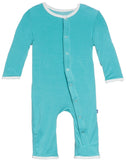 KicKee Pants Glacier Candy Cane Applique Layette Coverall