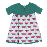 KicKee Pants Watermelon Keyhole Short Sleeve Swing Dress