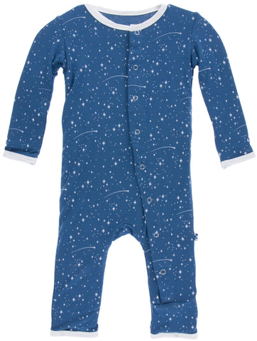 KicKee Pants Twilight Starry Sky Fitted Coverall w/Snaps