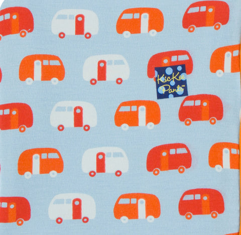 KicKee Pants CUSTOM Toddler Blanket-Pond Camper with Poppy Backing & Trim