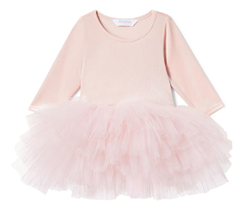 iloveplum O.M.G. Shirley Pink Velvet Tutu Dress