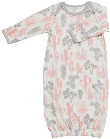 Bestaroo Pink & Grey Cactus Gown - Basically Bows & Bowties