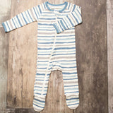 Bestaroo Blue Stripes Footie - Basically Bows & Bowties