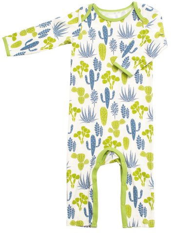 Bestaroo Blue & Green Cactus Coverall - Basically Bows & Bowties