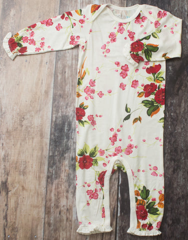 Bestaroo White Cherry Blossoms Coverall Basically Bows & Bowties