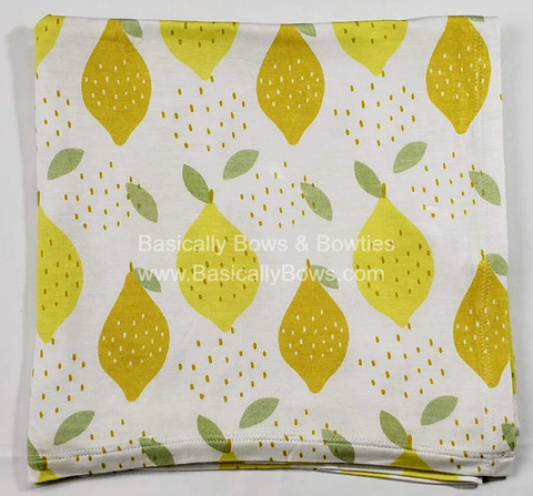 Kozi & Co Lemon Love Swaddle Basically Bows & Bowties