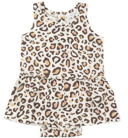Angel Dear Leopard Bodysuit with Skirt