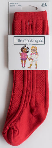 Little Stocking Co Poppy Red Knee High Socks