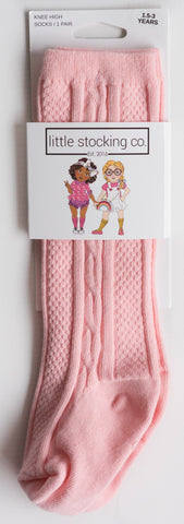 Little Stocking Co Powder Pink Knee High Socks