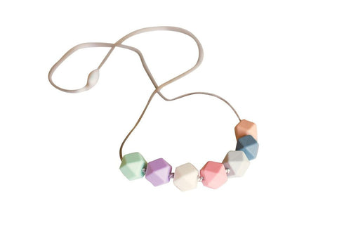 Little Teether Multi Geo Teething Necklace
