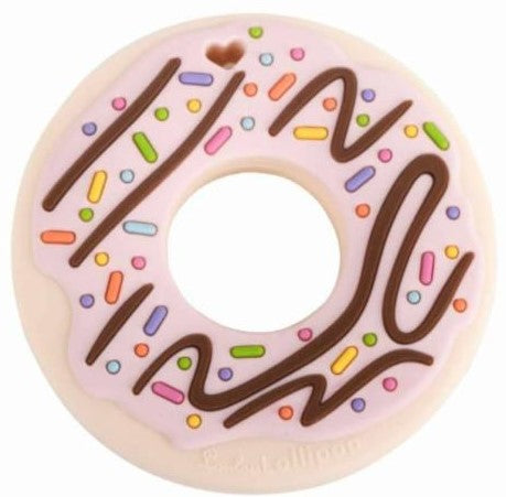 LouLou Lollipop Pink Donut Teether