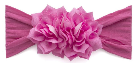Baby Bling Lotus Flower Headband-Hot Pink - Basically Bows & Bowties