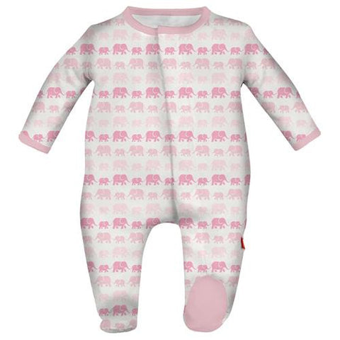 Magnetic Me Pink Dancing Elephants Modal Footie