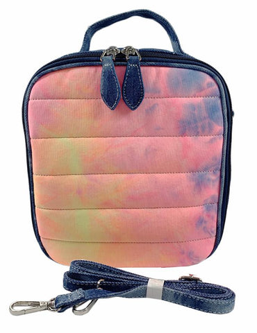 Bari Lynn Neon Tie Dye Denim Lunch Box
