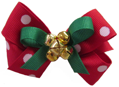 Small Jingle Bell Bow on Clippie