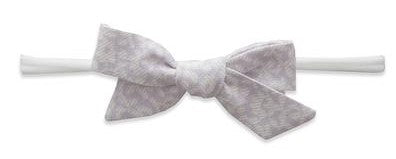 Baby Bling Light Orchid Floral Cotton Print Skinny Bow Headband Basically Bows & Bowties