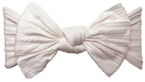 Baby Bling Ballet Pink Cable Knit Knot Headband - Basically Bows & Bowties