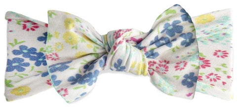 Baby Bling Tiny Spring Printed Knot Headband - Basically Bows & Bowties