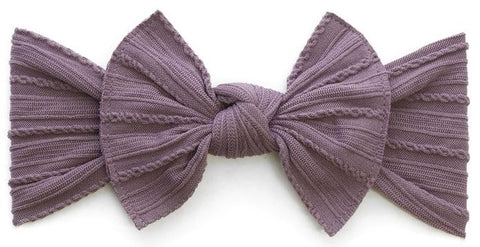Baby Bling Lilac Cable Knit Knot Headband - Basically Bows & Bowties