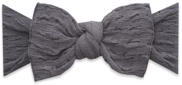 Baby Bling Charcoal Basketweave Knot Headband – Basically Bows   Bowties bed88a2d501