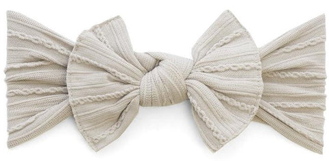 Baby Bling Taupe Cable Knit Knot Headband - Basically Bows & Bowties
