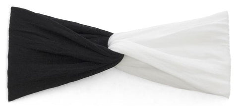 Baby Bling Black and White Twist Headband Basically Bows & Bowties