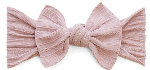 Baby Bling Mauve Cable Knit Knot Headband - Basically Bows & Bowties