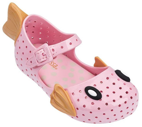 Mini Melissa Pink Fish Furadinha Shoes