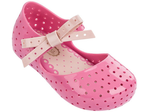 Mini Melissa Pink Furadinha X Shoes
