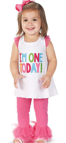 Mud Pie I'm One Today 2pc Tunic & Legging Set
