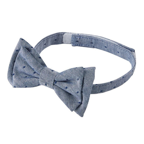Mud Pie Chambray w/Navy Dot Bow Tie