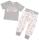 Mud Pie Little Slugger 2pc Pant Set