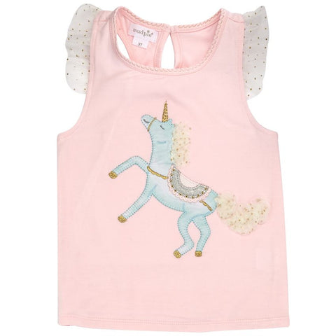 Mud Pie Unicorn Skirted Short Set - Basically Bows & Bowties