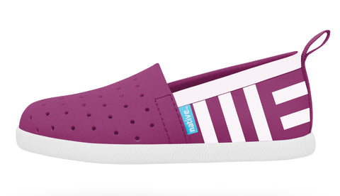 Native Venice Shoes-Baker Purple/Shell White w/Shell Stripes - Basically Bows & Bowties