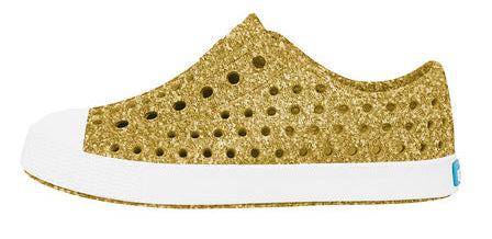 Native Jefferson Shoes-Gold Bling/Shell White - Basically Bows & Bowties
