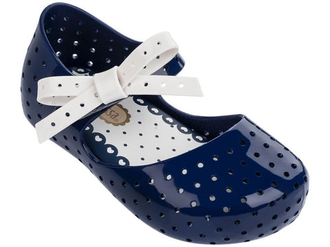 Navy Blue Mini Melissa Furadinha X Shoes